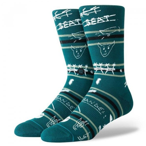 STANCE SOCKS SURFSKATE GET BEAT GREEN