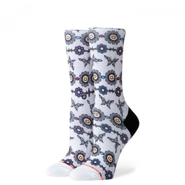 STANCE SOCKS FOUNDATION WOMEN DAISY CHAIN GREY HEATHER