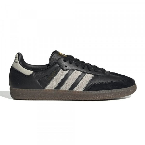 ADIDAS APAVI SAMBA OG FT CORE BLACK RAW WHITE GOLD MET F19