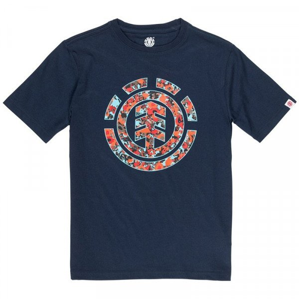 ELEMENT T-SHIRT MULTI ICON SS BOY ECLIPSE NAVY F19