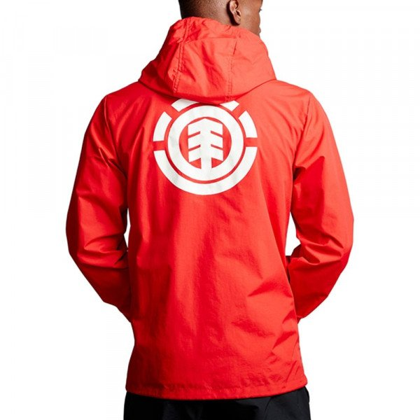 ELEMENT JACKET PRIMO ALDER HOOD COACH FIRE RED F19
