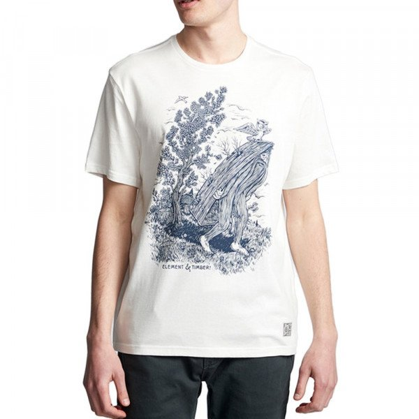ELEMENT T-SHIRT FIND WATER SS OFF WHITE F19