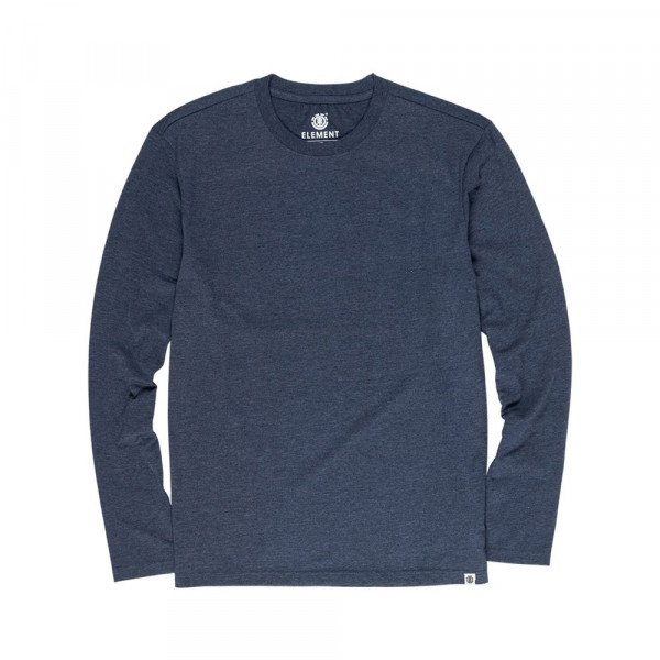 ELEMENT LONGSLEEVE BASIC CREW LS INDIGO HEATHER F19