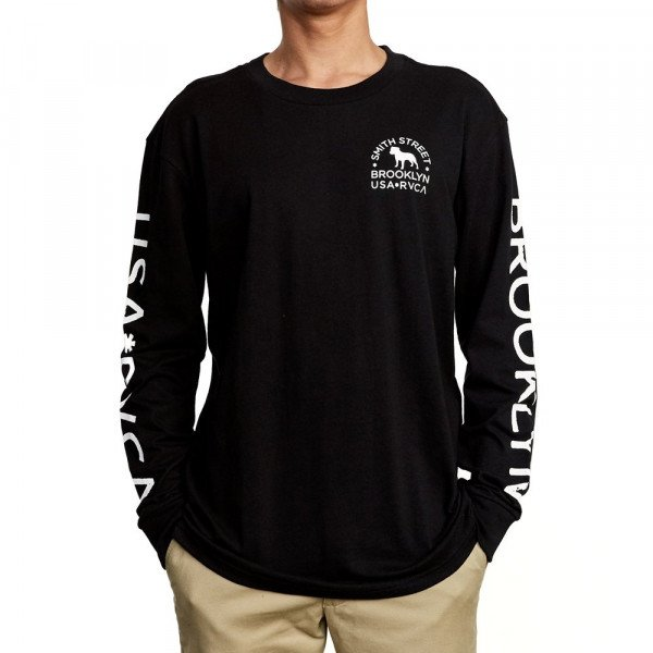 RVCA LONGSLEEVE WICKS LS BLACK F19