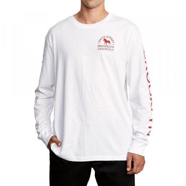 RVCA LONGSLEEVE WICKS LS WHITE F19