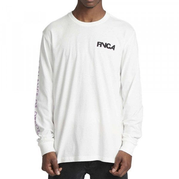 RVCA LONGSLEEVE SCREAMING BAT LS ANTIQUE WHITE F19
