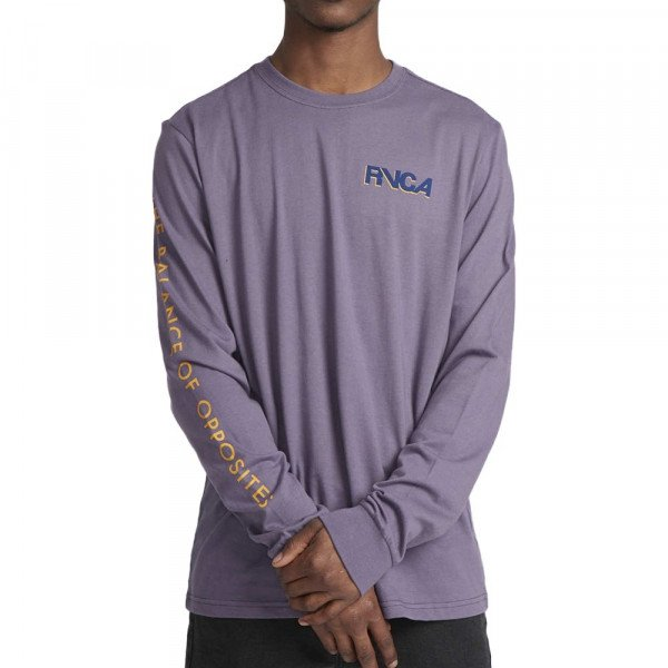 RVCA LONGSLEEVE SCREAMING BAT LS PURPLE JADE F19