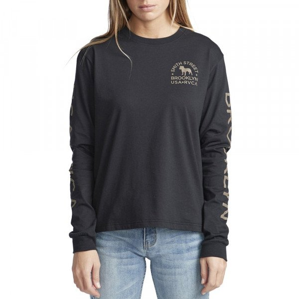 RVCA LONGLSEEVE WICK LS FADED BLACK F19