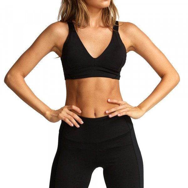 RVCA TOPS VA ULTRA SPORTS BRA BLACK F19