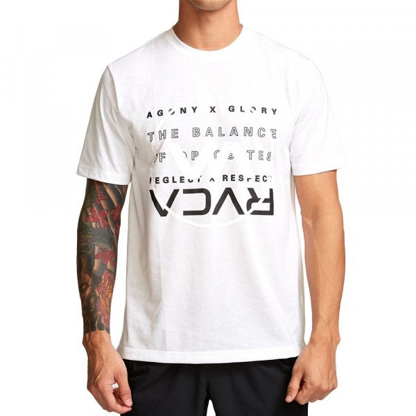 RVCA T-SHIRT BRAND OVER BALANCE WHITE F19