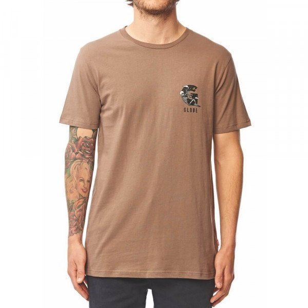 GLOBE T-SHIRT HAZED TEE WALNUT F19