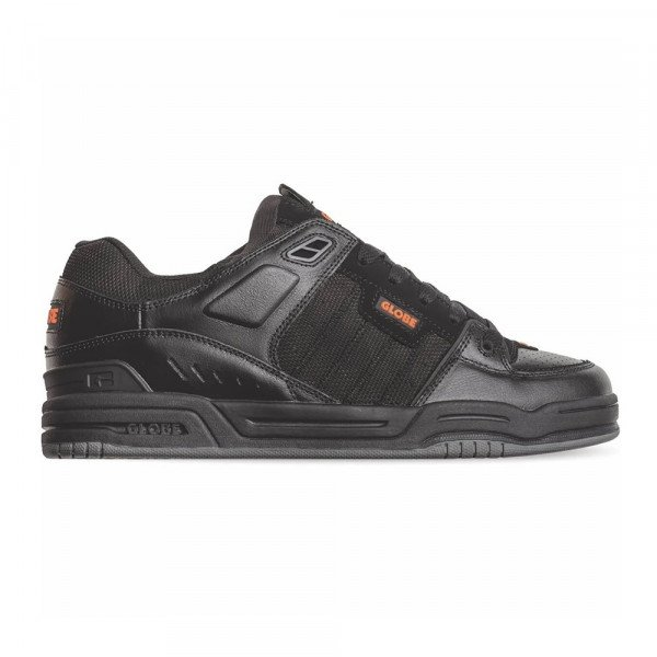 GLOBE SHOES FUSION BLACK BLACK ORANGE F19