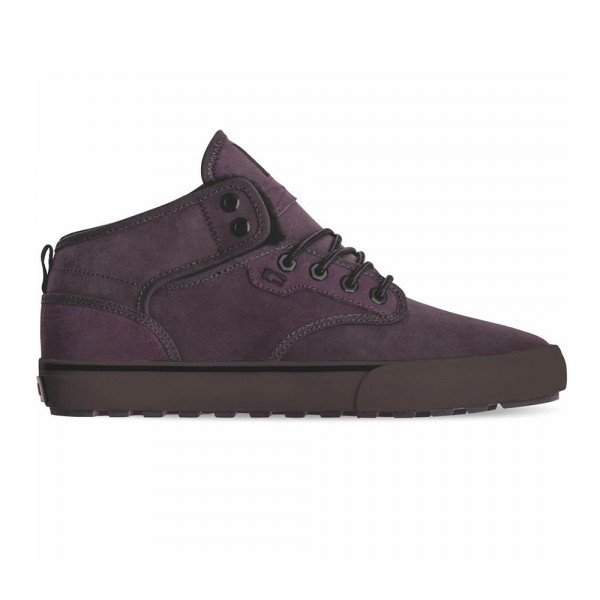 GLOBE SHOES MOTLEY MID PLUM BLACK FUR F19