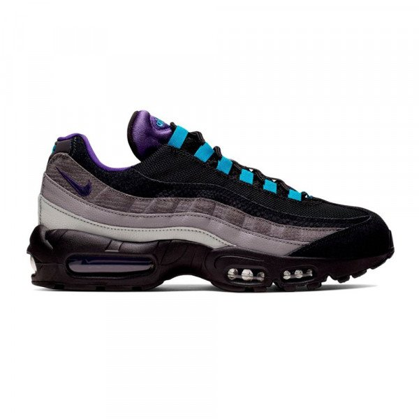 NIKE APAVI AIR MAX 95 LV8 BLACK COURT PURPLE TEAL F19