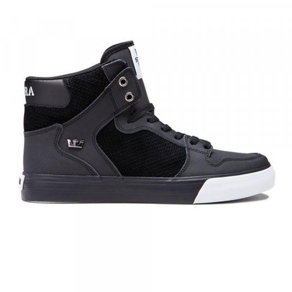 SUPRA SHOES VAIDER BLACK LT GREY BLACK F19
