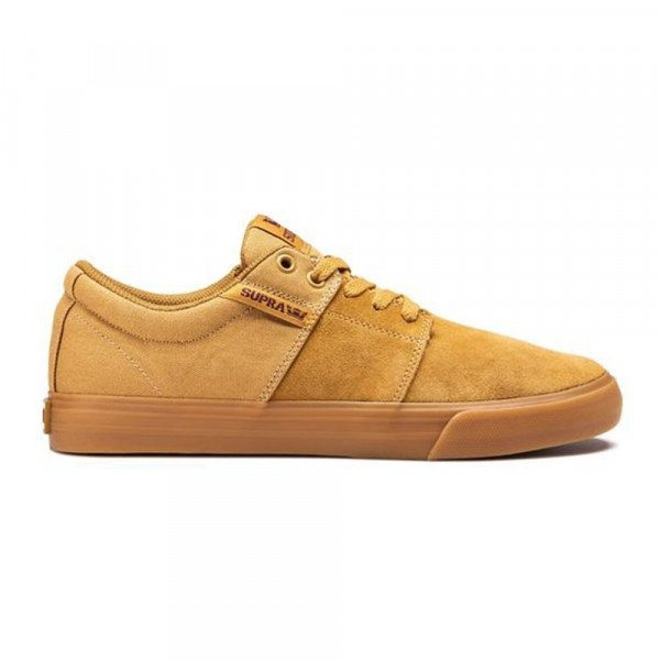 SUPRA SHOES  STACKS II VULC TAN BROWN LT GUM F19