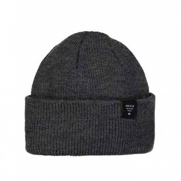 MAKIA CEPURE MERINO THIN CAP DARK GREY F19