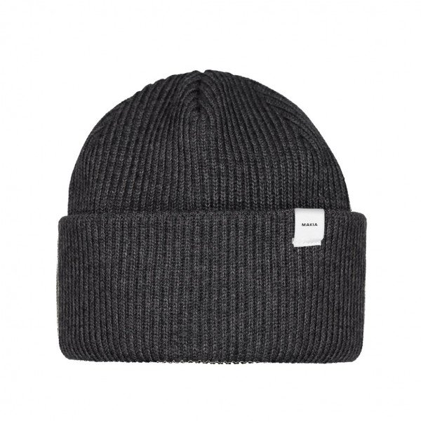 MAKIA CEPURE MERINO CAP DARK GREY F19