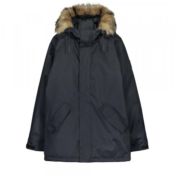 MAKIA JACKET RAGLAN PARKA W BLACK