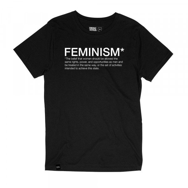 DEDICATED T-SHIRT STOCKHOLM FEMINISM BLACK F19