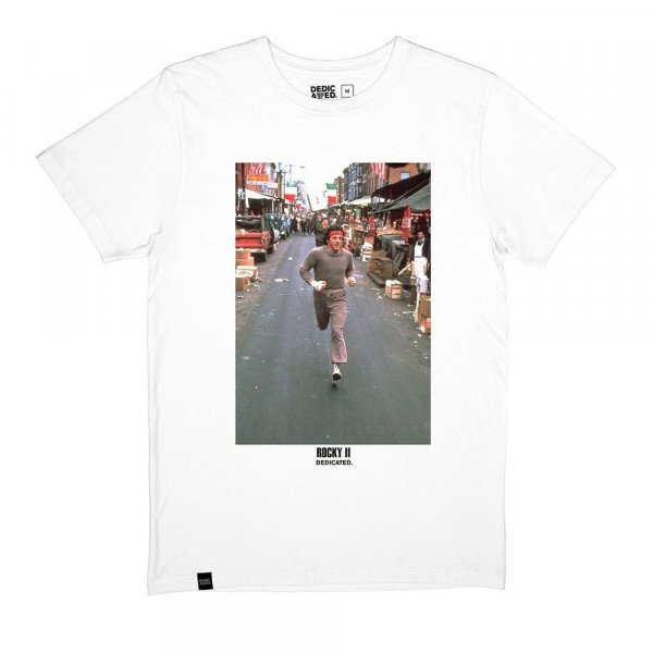 DEDICATED T-SHIRT STOCKHOLM ROCKY RUN WHITE F19