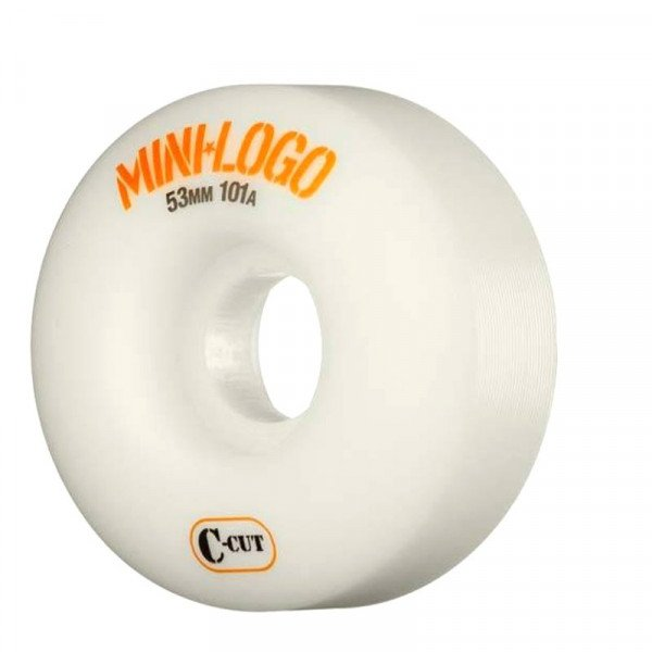 MINI LOGO WHEELS A-CUT 53 X 101A WHITE
