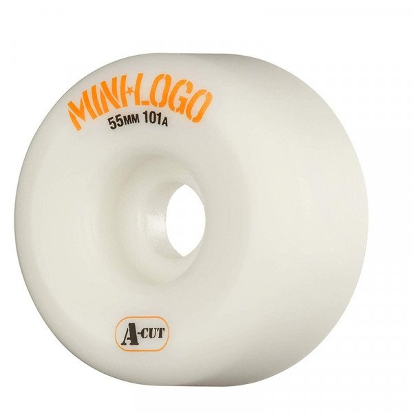 MINI LOGO WHEELS A-CUT 55 X 101A WHITE