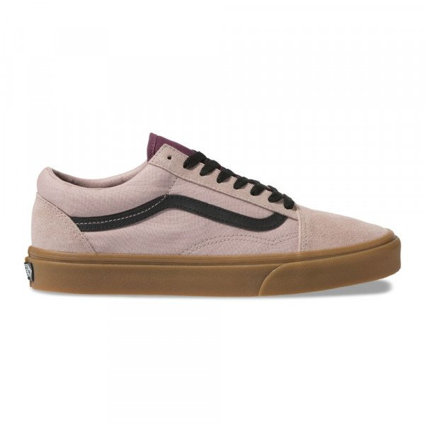 VANS SHOES OLD SKOOL (GUM) SHADOW GRAY PRUNE F19