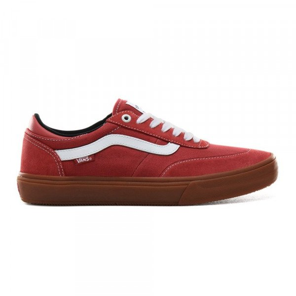 VANS SHOES GILBERT CROCKETT 2 PRO (GUM) MINERAL RED TRUE WHITE F19