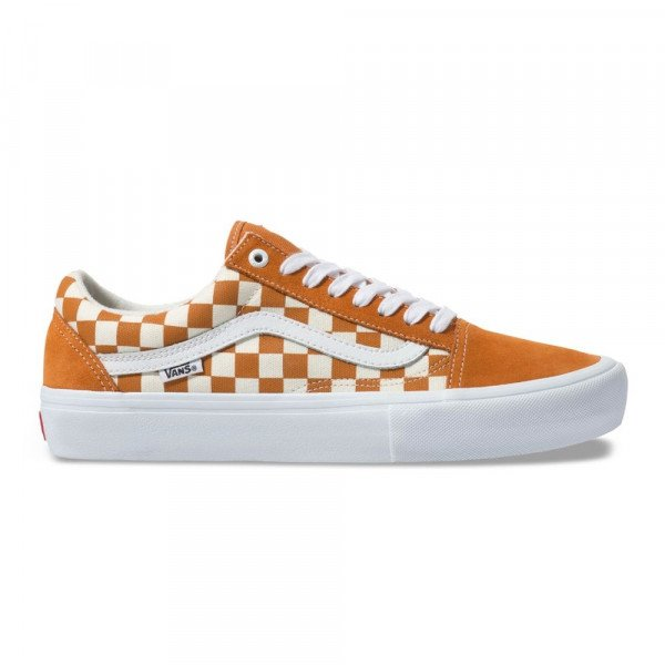 VANS SHOES OLD SKOOL PRO (CHECKERBOARD) GOLDEN OAK F19