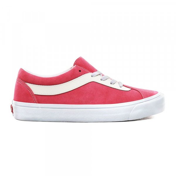 VANS SHOES BOLD NI (SUEDE) KNOCKOUT PINK TRUE WHITE F19
