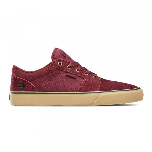 ETNIES SHOES BARGE LS BURGUNDY TAN F19