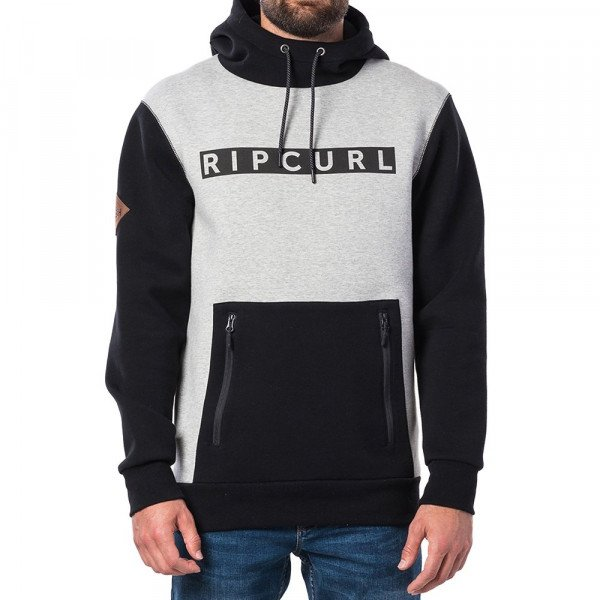 RIP CURL HOOD SEARCH FLEECE JET BLACK F19