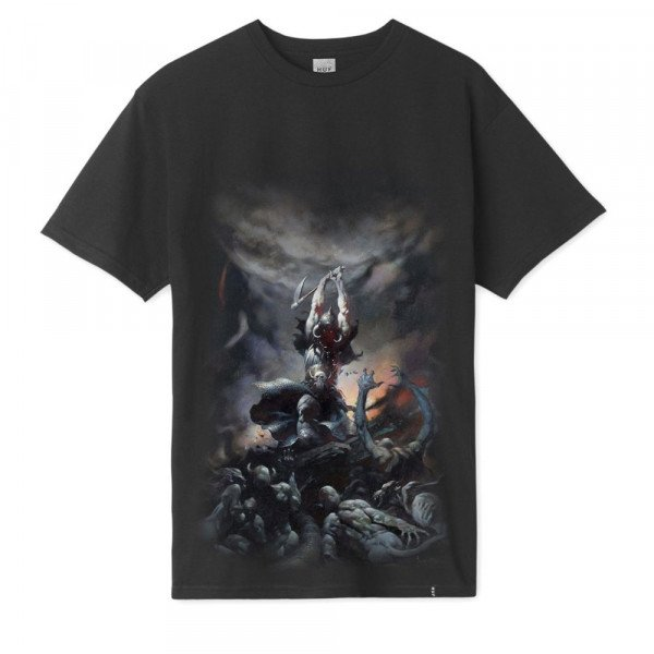 HUF T-SHIRT FRAZETTA DEATH DEALER BLACK F19