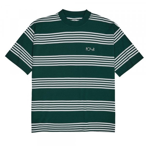 POLAR T-SHIRT STRIPED SURF TEE DARK GREEN F19