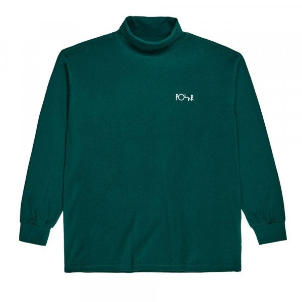 POLAR T-SHIRT SCRIPT TURTLENECK DARK GREEN F19