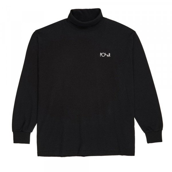 POLAR T-SHIRT SCRIPT TURTLENECK BLACK F19