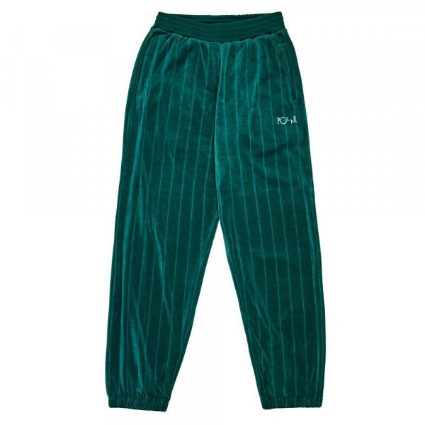 POLAR BIKSES VELOUR SWEATPANTS DARK GREEN F19