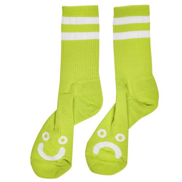 POLAR SOCKS HAPPY SAD SOCKS LIME F19
