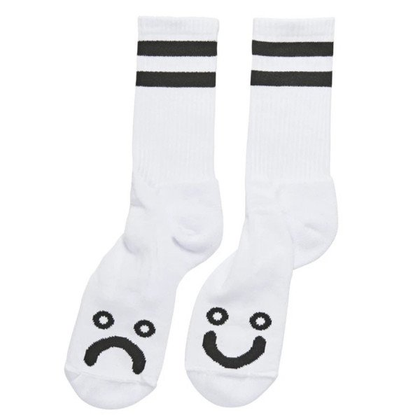 POLAR SOCKS HAPPY SAD SOCKS WHITE F19
