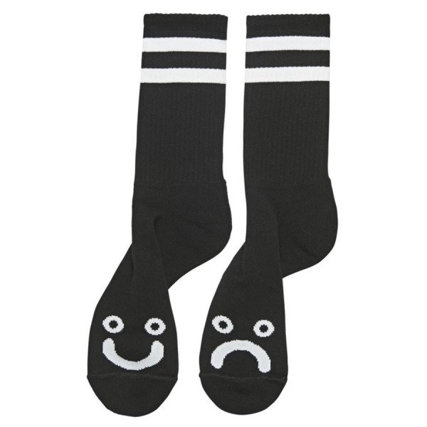 POLAR SOCKS HAPPY SAD SOCKS BLACK F19