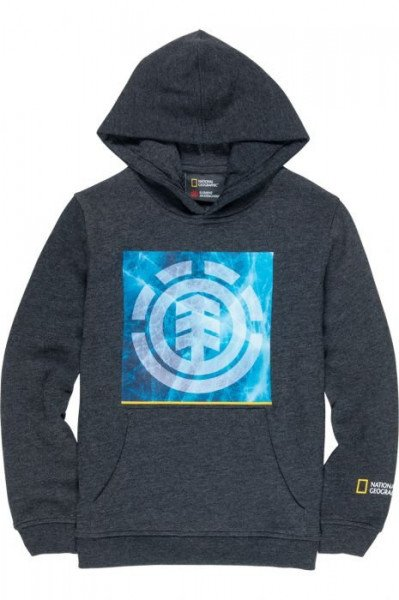 ELEMENT HOOD SOLVENT ICON HOOD KIDS CHARCOAL HEATHER F19