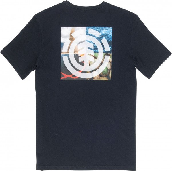 ELEMENT T-SHIRT QUADRANT SEASONS SS FLINT BLACK F19
