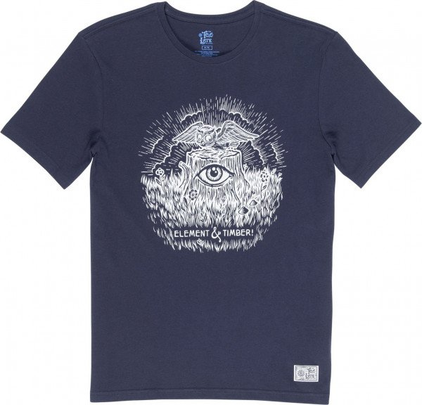 ELEMENT T-SHIRT TOO LATE STUMP SS ECLIPSE NAVY F19