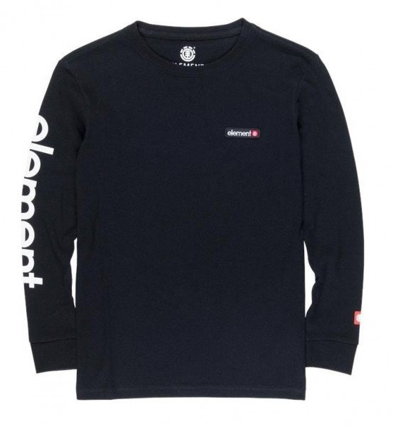 ELEMENT LONGSLEEVE PRIMO LS CR KIDS FLINT BLACK F19