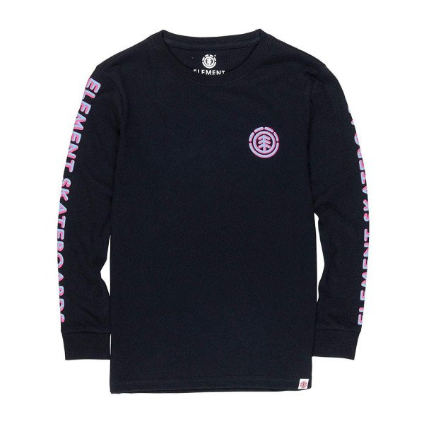 ELEMENT LONGSLEEVE CHROME LS KIDS FLINT BLACK F19