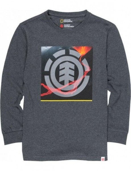 ELEMENT LONGSLEEVE SURGE ICON LS KIDS CHARCOAL HEATHER F19