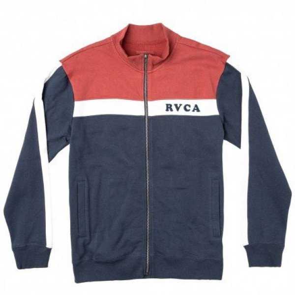 RVCA ZIP-HOOD PALI TRACK JACKET BRICK RED F19