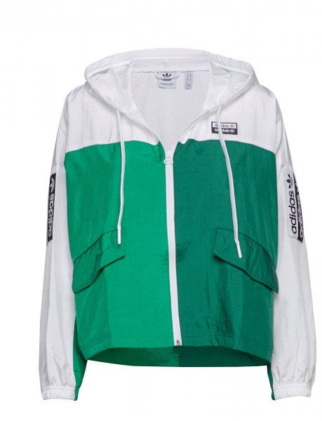 ADIDAS JAKA WINDBREAKER WHITE BOLD GREEN F19