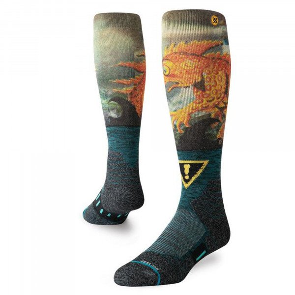 STANCE SOCKS SNOW LIZARD LOU GREEN